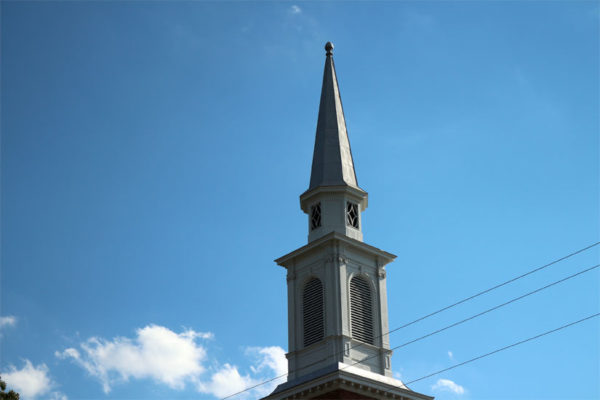 Church steeple in Arlington