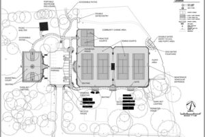 Towers Park renovations site plan
