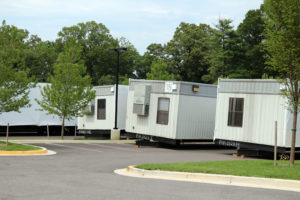 Yorktown High School classroom trailers