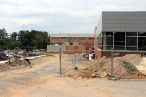 Yorktown High School construction site