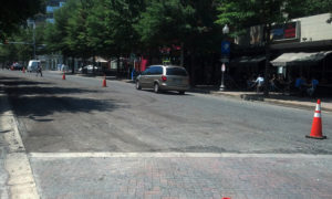 Construction on Wilson Blvd in Clarendon