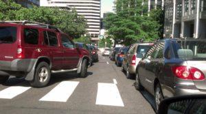 New traffic pattern on Wilson Blvd in Rosslyn