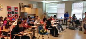 Class at Washington-Lee High School