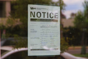 ABC permit notice for Water and Wall in Virginia Square