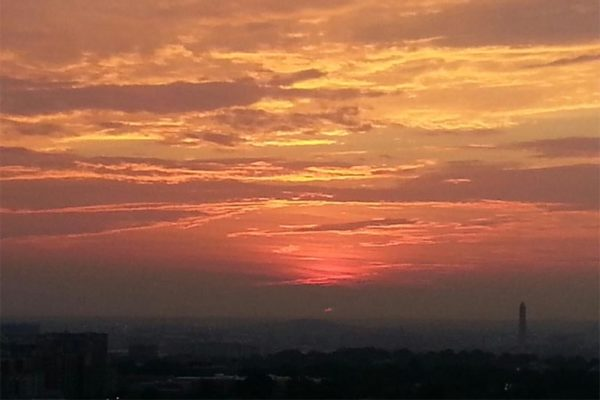 Sunrise, as seen from Ballston (courtesy photo)