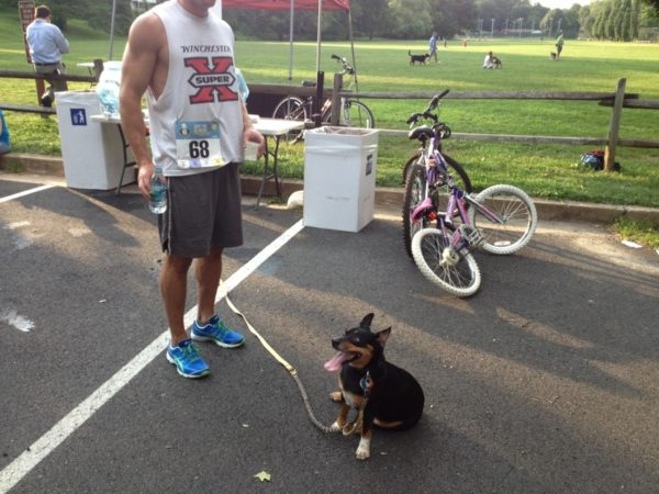 The third place finisher in Friday's Lost Dog 5K in Bluemont Park (courtesy photo)