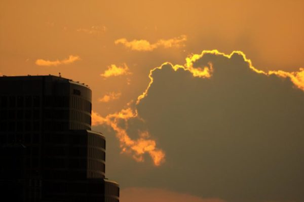 Rosslyn sunset (photo by christopherskillman)