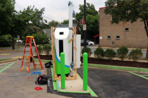 Electric car charging station in Clarendon Walgreens