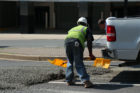 Cement spill in Rosslyn