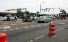 SUV overturns at Army Navy Drive and S. Hayes Street