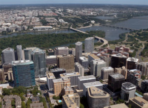 Aerial view of Rosslyn (Photo  courtesy Pete Roof/Alt Gobo MediaWorks LLC)