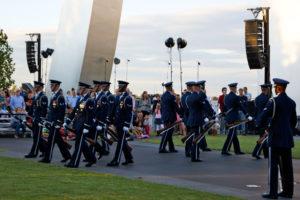 Air Force birthday celebration at Air Force Memorial