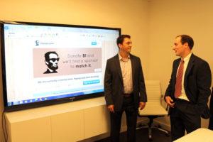 Changecause CEO Zach Liscio, left, and COO Edward Ridgely