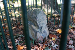 Boundary stone at Carlin Springs Elementary