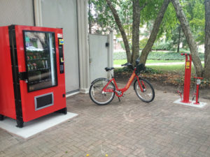 Crystal City bike repair vending machine