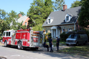 Roof collapses at East Falls Church home