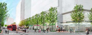 Renderings of the future PenPlace development in Pentagon City (via Arlington County)