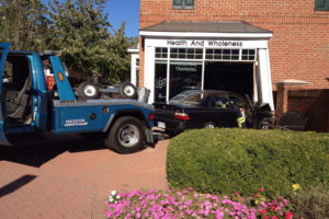 Car crashes into personal training studio