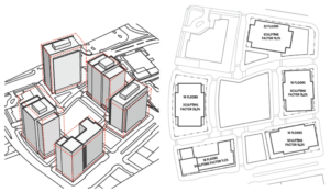 Draft layout of the PenPlace development in Pentagon City