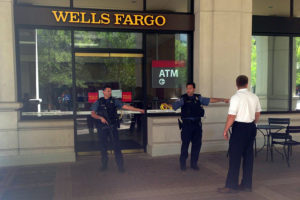 Bank robbery at Wells Fargo in Courthouse Plaza