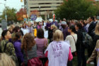 Protesters speak at abortion rally outside Arlington County Courthouse