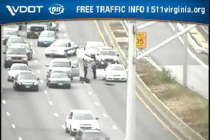 Accident at I-395 and Glebe Road