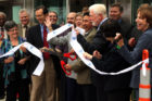 Arlington dignitaries cut the ribbon at the Rosslyn Metro unveiling