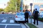 Taxi crashes into pole in Ballston