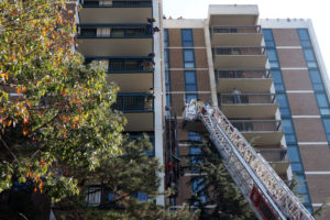 Scaffolding collapse rescue on Columbia Pike