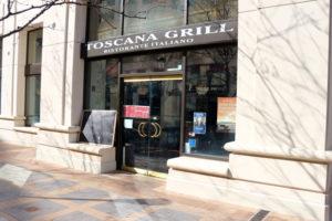 Toscana Grill closes