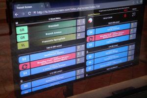 TransitScreen display of U Street Metro