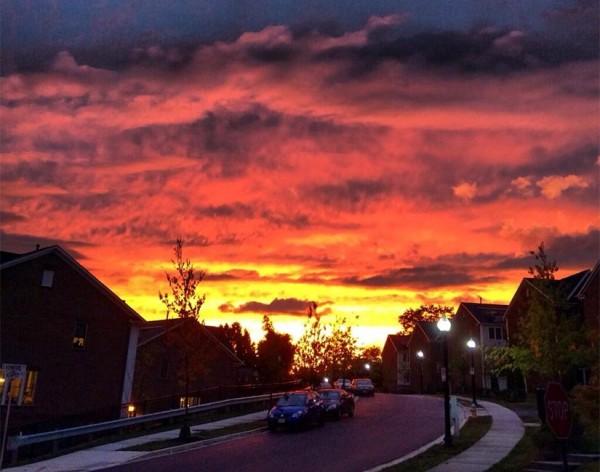 Sunset on Oct. 7, 2013 (photo courtesy @BrianWohlert)