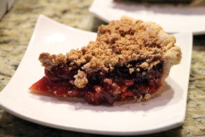 Acme Pie Co.'s Sour Cherry pie with Streusel topping