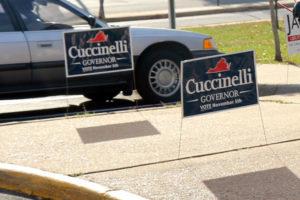 Cuccinelli campaign signs