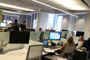 Workers at Evolent's Ballston office