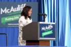 Actress Kerry Washington campaigns for Terry McAuliffe