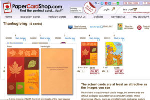 A screenshot of PaperCardShop.com