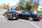 Two-car crash in front of Virginia Hospital Center