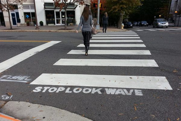 Crosswalk at 15th Street and Courthouse Road (photo by Katie Pyzyk)