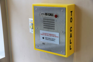 Fire Station No. 3 lobby emergency call box