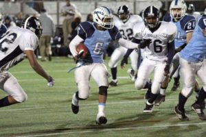 Yorktown High School running back M.J. Stewart in a game against Washington-Lee in 2011