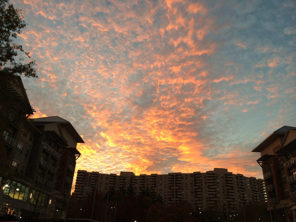 Sunset on 11/6/13 as seen from Pentagon City