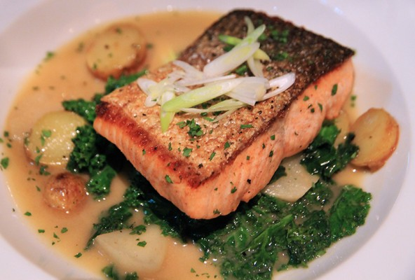 The Salmon at Water and Wall