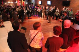 Speeches at the Democratic victory party on Columbia Pike