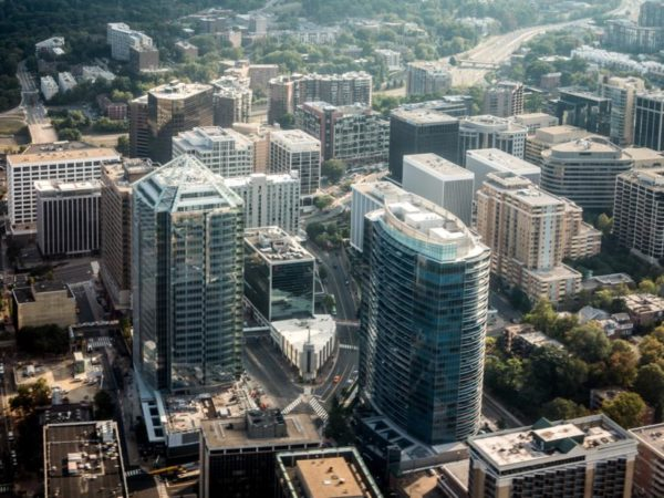Aerial view of Rosslyn (Flickr pool photo by @ddimick)
