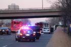 Car flips on Jefferson Davis Highway