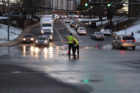 Water main break on Columbia Pike