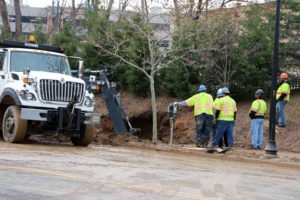 16-inch water main breaks in Shirlington