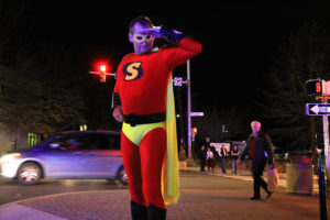 "Anti-DUI superhero ""Soberman"" in Clarendon (file photo)"