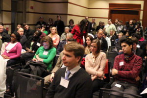 Arlington Young Democrats fill the room during their County Board debate